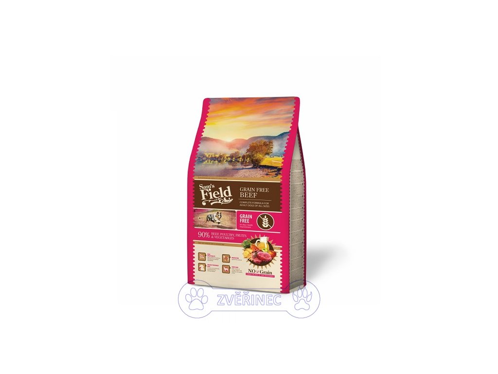 sams field grain free beef 13 kg n b cz 1