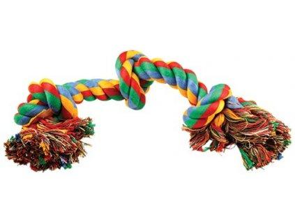 uzel dog fantasy bavlneny barevný 3 knoty 40 cm