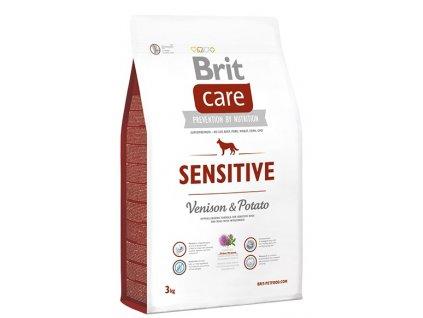 brit care dog sensitive venison potato 3kg