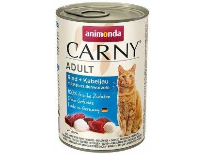 Konzerva ANIMONDA Carny Adult hovězí + treska 400 g