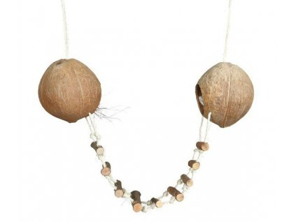 Trixie kokosové domky se žebříkem