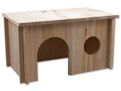 Small Animal domek dřevěný hladký 38x23x21 cm
