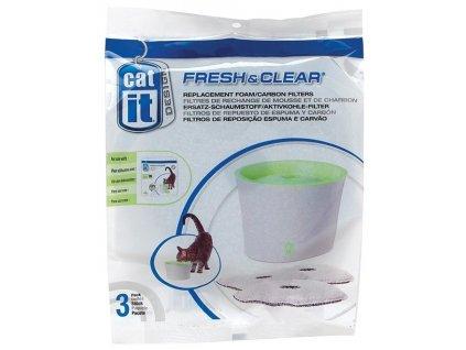 Náhradní filtry - uhlí + molitan pro fontány Cat It New 3ks