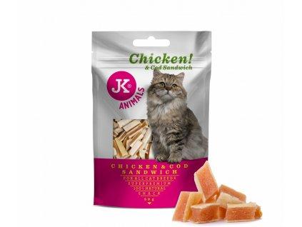 55033 jk superpremium meat snack cat chicken cod sandwich 50 g 1