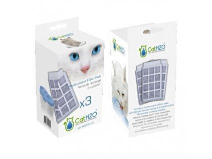 Náhradní filtry do fontány H2O pro kočky 3 ks