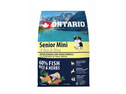 Ontario Senior Mini Fish & Rice 2.25 kg