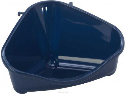 Toaleta rohová Moderna modrá S