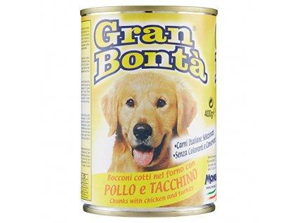 Gran Bonta s kuřecím a krůtím masem 400 g