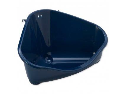 Toaleta rohová Moderna modrá