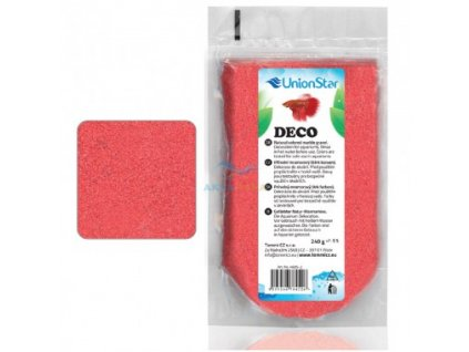 Akvarijní písek Betta DECO červený 1 - 1,5 mm, 240 g