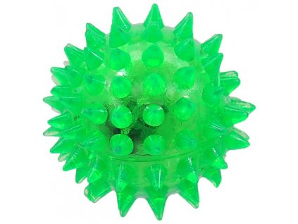Hračka Dog Fantasy míček LED zelená 5 cm