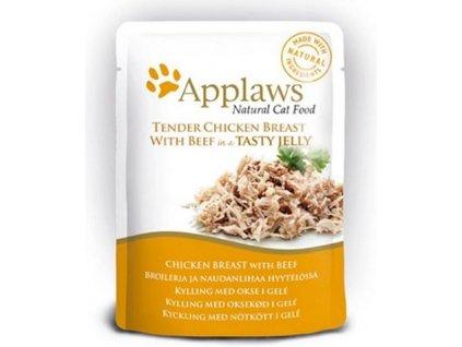 Applaws Jelly kuře prsa & hovězí 70 g