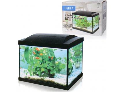 Hailea LED K20 akvarijní set 36x23x29 cm, 20 l černý