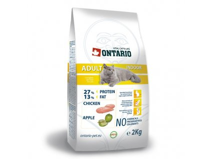 ONTARIO Cat Adult Indoor (2kg)