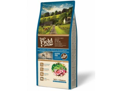 sams field gluten free adult large beef veal 13 kg 1