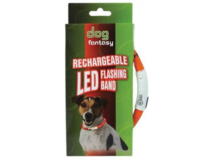 obojek dog fantasy led svetelny oranzovy 70 cm
