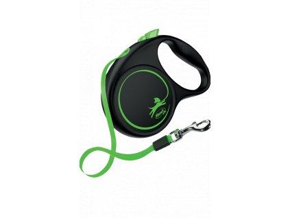 Flexi neon M páska zelená 5 m