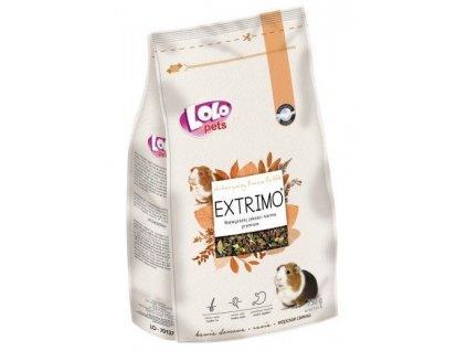 LOLOPets EXTRIMO kompletní krmivo pro morčata v sáčku se zipem 750 g