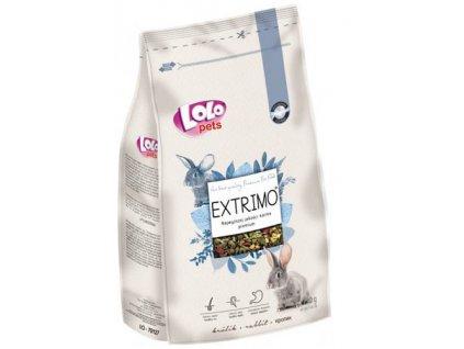 LOLOPets EXTRIMO kompletní krmivo pro králíky v sáčku se zipem 750 g