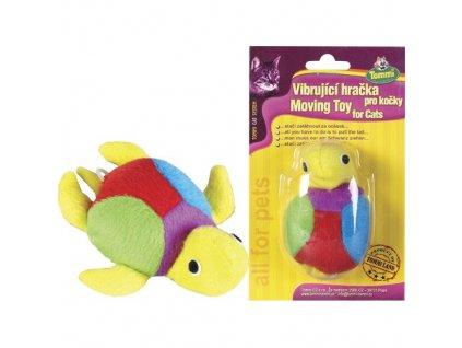 Vibrační hračka pro kočky - želva 8 cm