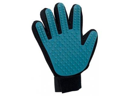 pecujici masazni rukavice cerno modra 16 x 24 cm