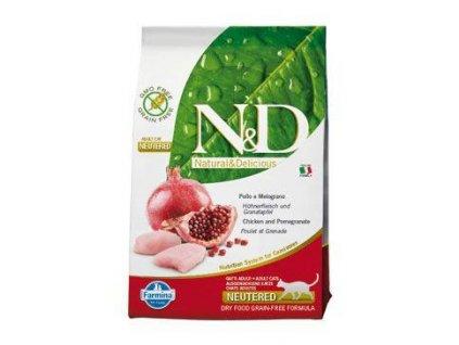 n d grain free cat neutered chicken pomegranate 5kg