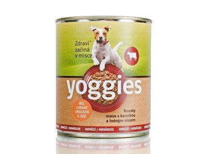 Yoggies pro psy s hovězím masem a karotkou 800 g