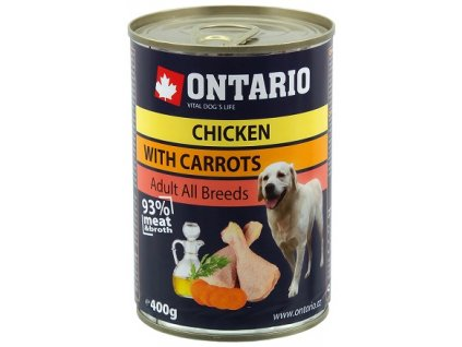 ontario konzerva chicken carrots salmon oil 400g