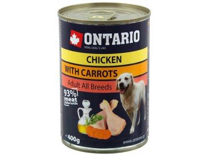 ONTARIO konzerva pro psy různé druhy 400 g
