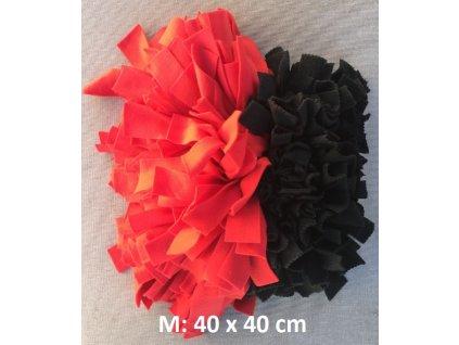 čmuchací kobereček 2 délky extra hustý červená&černá M