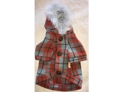 Kostkovaný kabátek