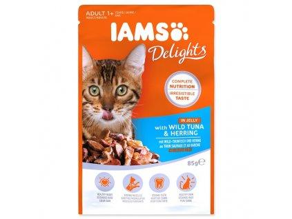 Kapsička IAMS Cat Delights Tuna & Herring in Jelly (85g)