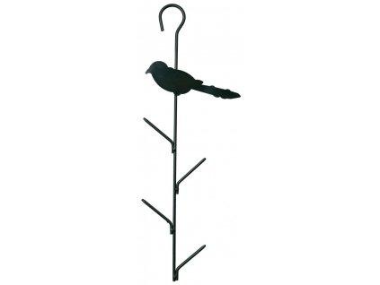Závěsný držák na 4 lojové koule s ptáčkem, kovo