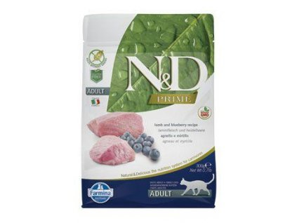 n d prime cat adult lamb blueberry 300g