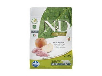 n d prime cat adult boar apple 300g
