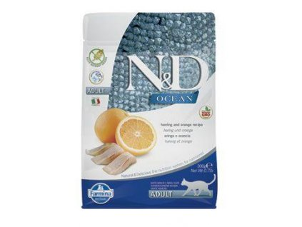 n d ocean cat gf adult herring orange 300g