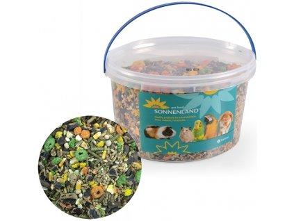 Sonnenland Country krmivo pro hlodavce, kbelík 1,65kg, 3l