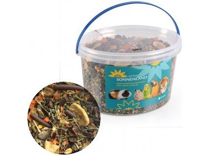 Sonnenland Nature krmivo pro králíky, kbelík 1,6kg, 3l