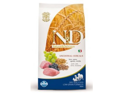 n d low grain dog adult mini lamb blueberry 800g