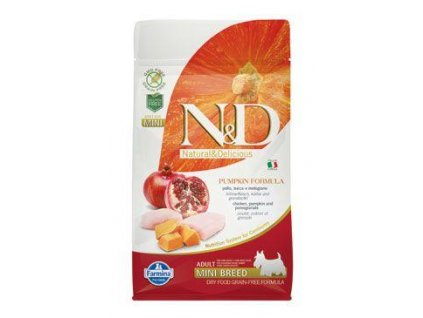 n d gf pumpkin dog adult mini chicken pomegranate 800g