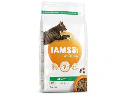 IAMS for Vitality Adult Cat Food with Salmon 2 kg