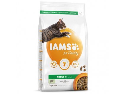 IAMS for Vitality Adult Cat Food with Lamb (2kg)