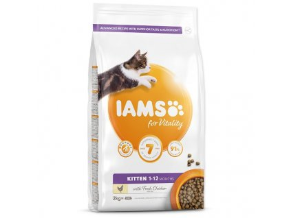 IAMS for Vitality Kitten Food with Fresh Chicken (2kg)