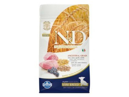 n d lg dog puppy mini lamb blueberry 800g