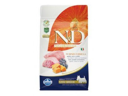 n d gf pumpkin dog adult mini lamb blueberry 800g