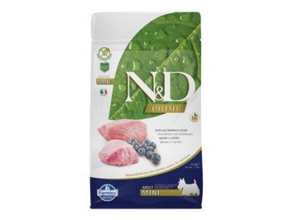 n d prime dog adult mini lamb blueberry 800g