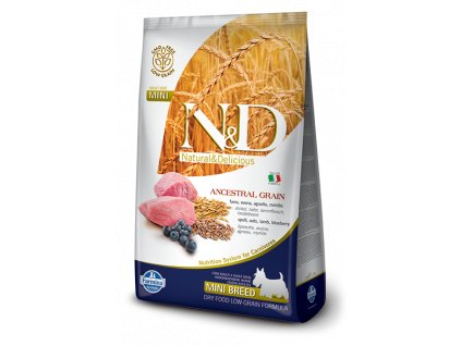 n amp d ancestral grain dog adult lamb amp blueberry mini 2 5kg default