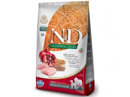 n d ancestral grain dog adult m l chicken pomegranate 2 5kg original