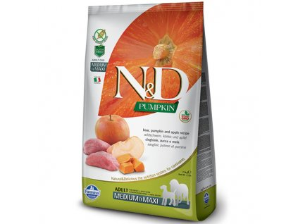 n d pumpkin dog adult m l boar apple 2 5kg original