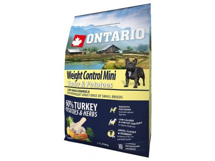 ontario mini weight control turkey potatoes 2 25kg